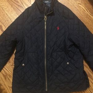 Boys polo quilted lightweight jacket size 7